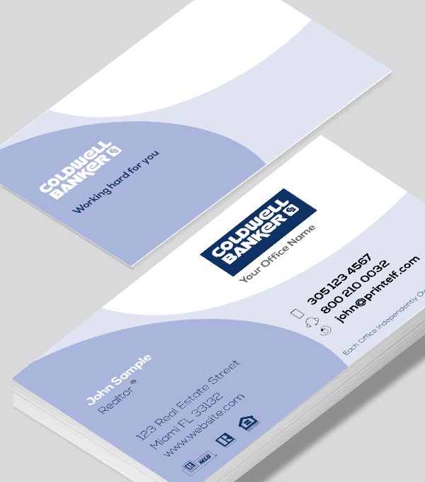 Modern contemporary business card design -Coldwell banker agent business card