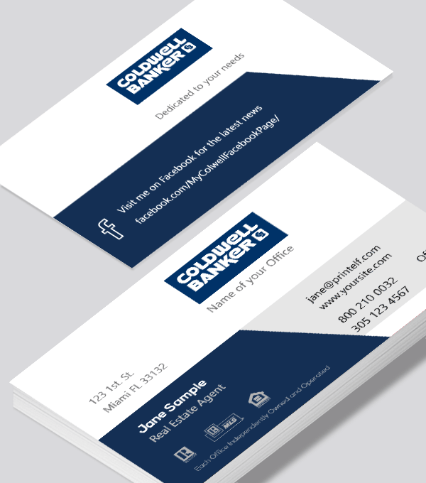Modern contemporary business card design -coldwell banker realtor business card