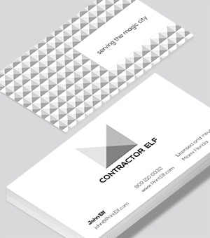 Contemporary business card layouts - Contractor