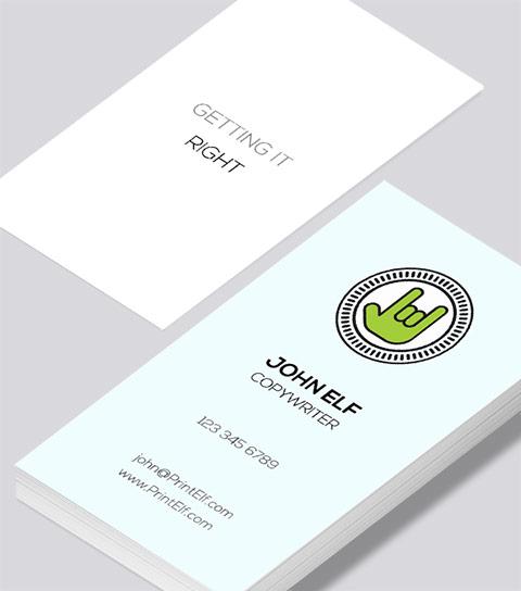 Copywriter business card modern design copywriter business card colourmoves