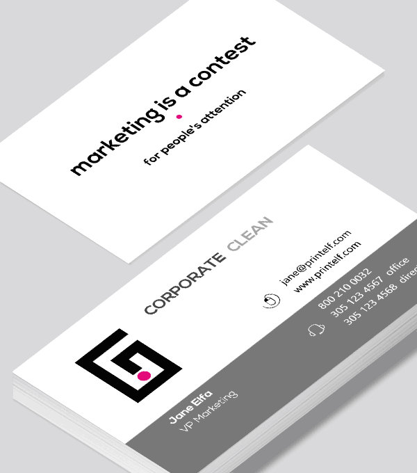 Corporate business card - Modern Design