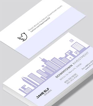 Downtown business card design