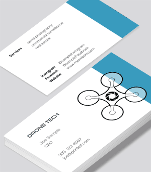 Drone Aerial business card