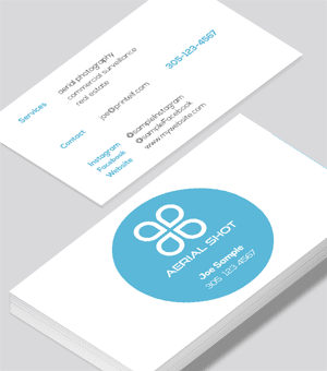 Aerial Shot business card