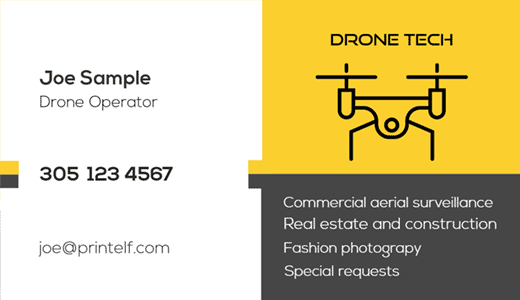 Drone business cards - Free templates and designs