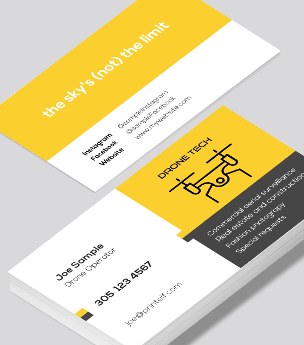 Drone Business Card Modern Design