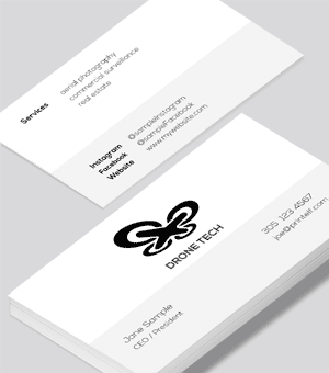 Drone Commercial business card