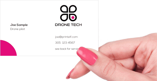 Hand holding business card - Drone Thermal Imaging business card