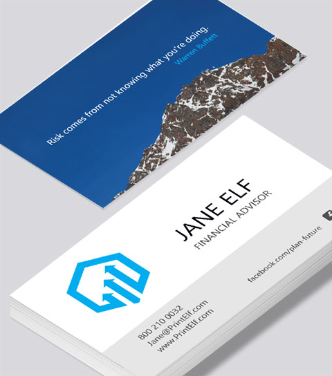 Financial advisor business card modern design financial advisor business card modern contemporary business card design reheart