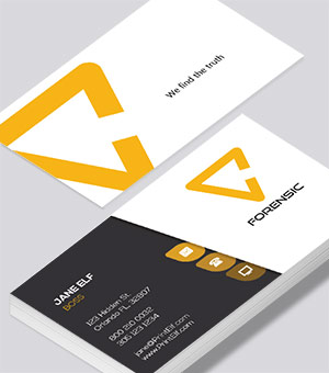 Forensic business card