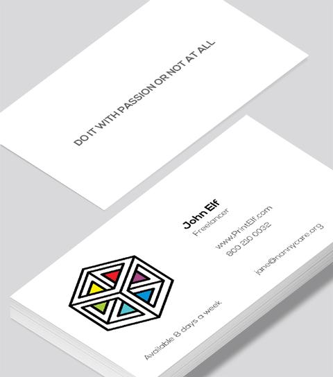 freelance business card modern design