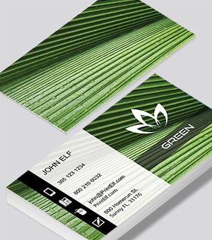 Green Thumb business card design