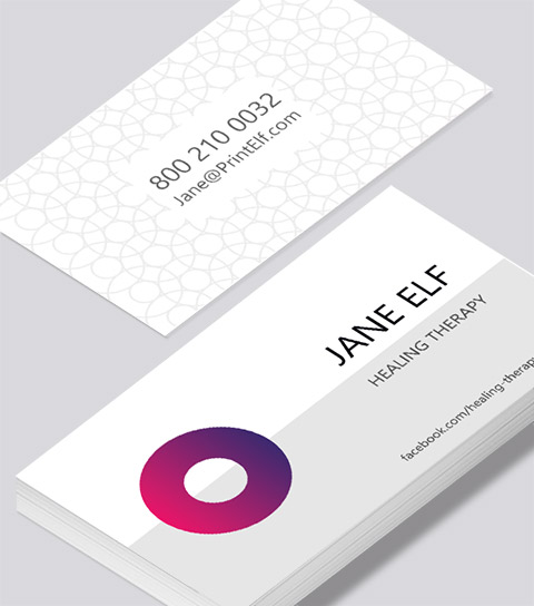 Healing business card modern design healing business card modern contemporary business card design reheart Gallery