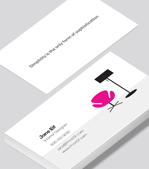 Modern Contemporary Business Card Design Interior Designer