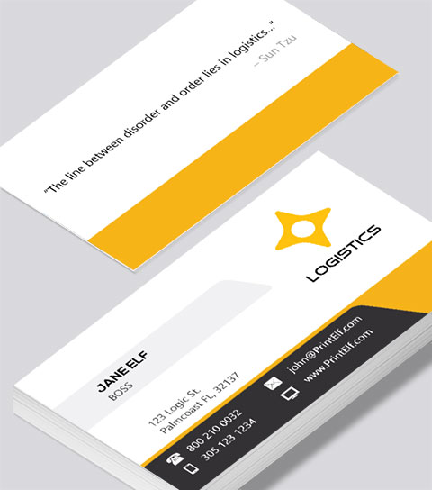 Logistics business card modern design logistics business card modern contemporary business card design reheart Gallery