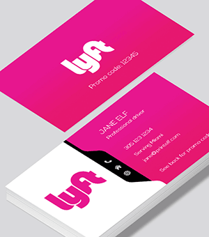 photograph relating to Printable Lyft Sign called Lyft small business playing cards posted via Printelf - Totally free templates
