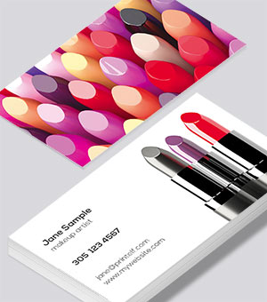 Beauty Makeup Cosmetic Business Cards Modern Design