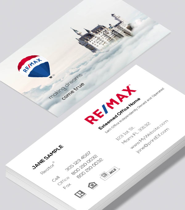 Modern contemporary business card design -Making Dreams Come True business card