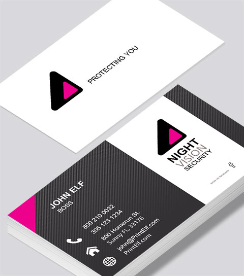 night vision security business card modern design