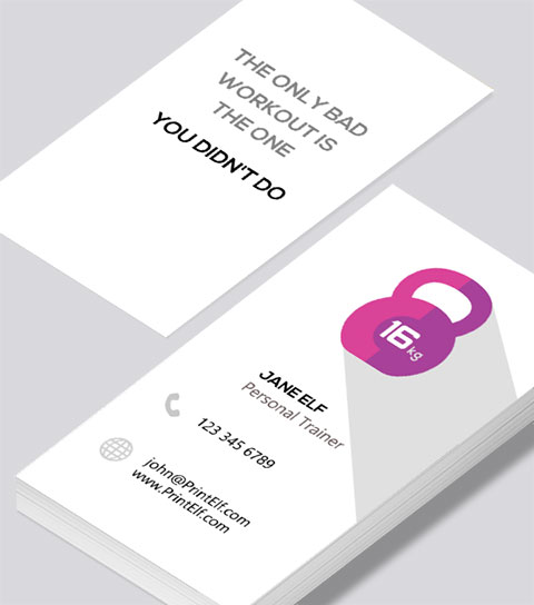 Modern Contemporary Business Card Design Personal Trainer