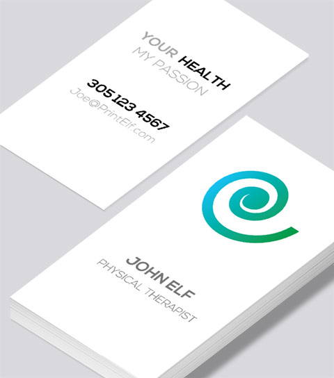 modern contemporary business card design physical therapist business card