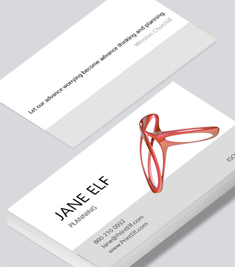 Modern contemporary business card design -Planning business card