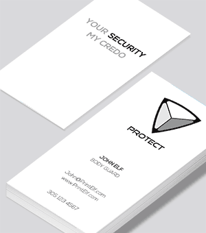 Protection -Secure  business card