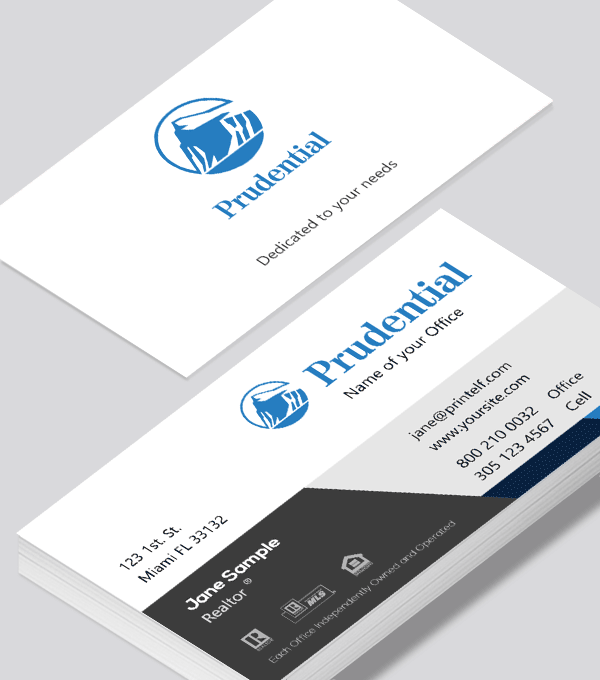Modern contemporary business card design -Prudential Classic business card