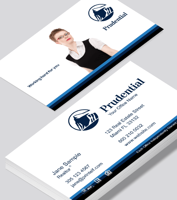 Modern contemporary business card design -Prudential Essential business card