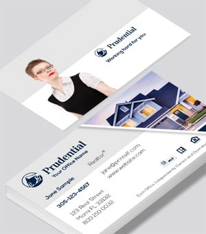 Prudential Estate Agent business card