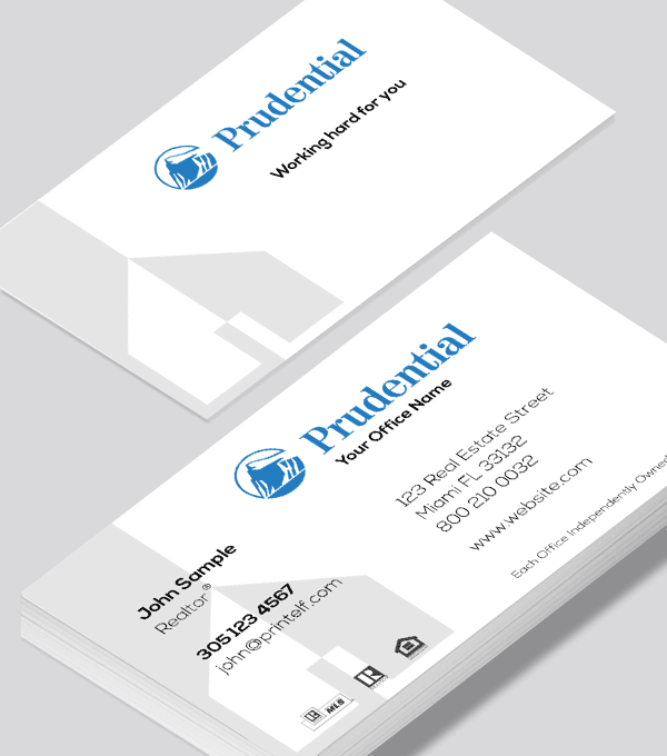 Modern contemporary business card design -Prudential Modern business card