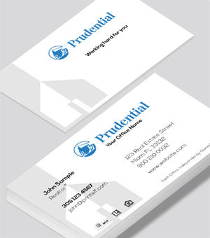 Prudential modern business card