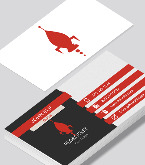 Modern contemporary business card design -Red Rocket business card