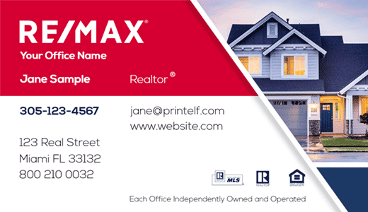 Modern design. Remax Real estate business cards