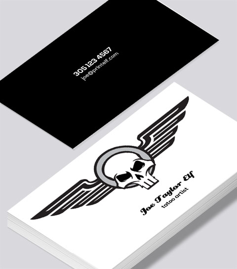 Modern contemporary business card design -Tatoo business card
