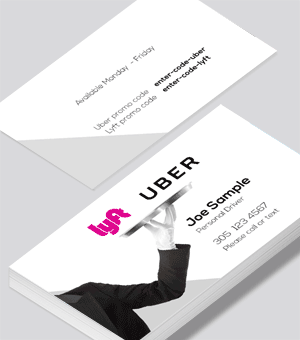 Lyft Business Cards Printed By Printelf