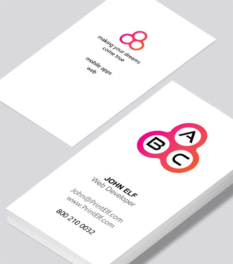 Web developer business card modern design modern contemporary business card design web developer business card reheart Images