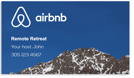 Airbnb business card