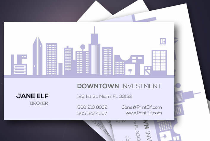 freelance business card investment real estate management housing