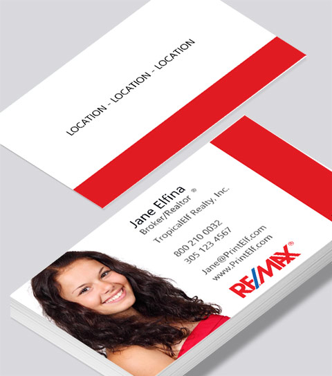 Full color business card printing for your corporate image remax realtor full color business card colourmoves