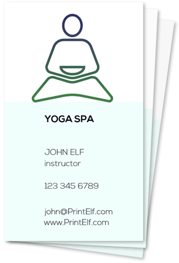 Yoga lessons spa business cards
